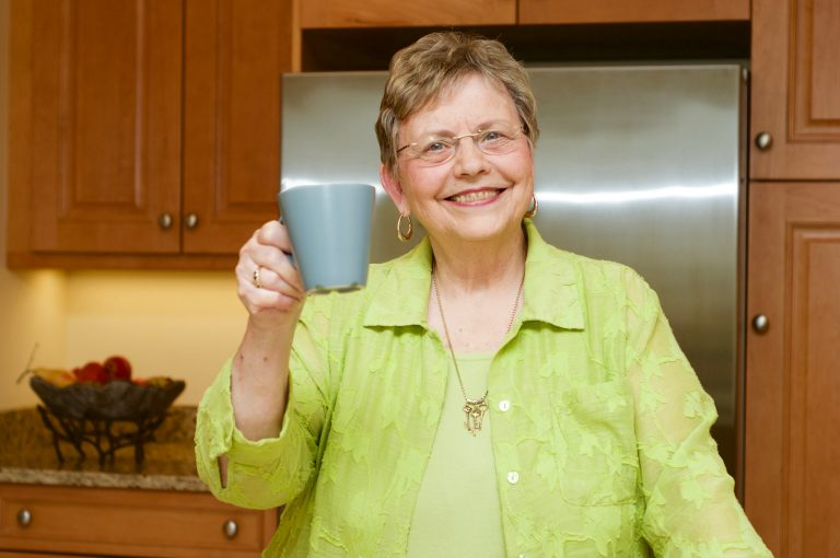 Karen with coffee cup