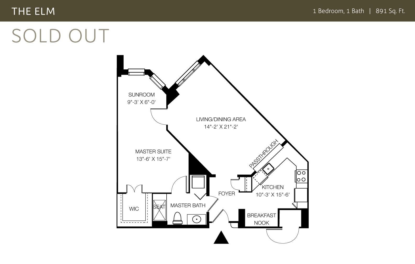 view one bedroom floor plan