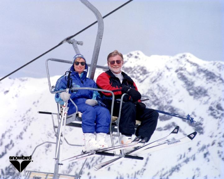 Gary and Sue Ellen on Ski Lift