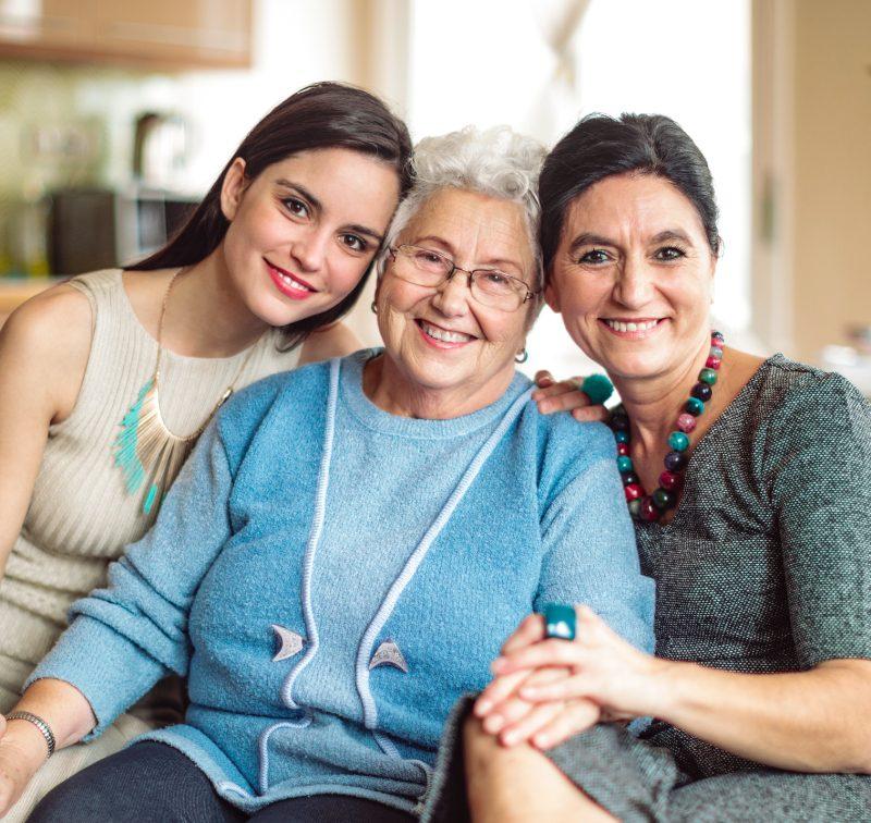 Grandmother, daughter, Grandmother
