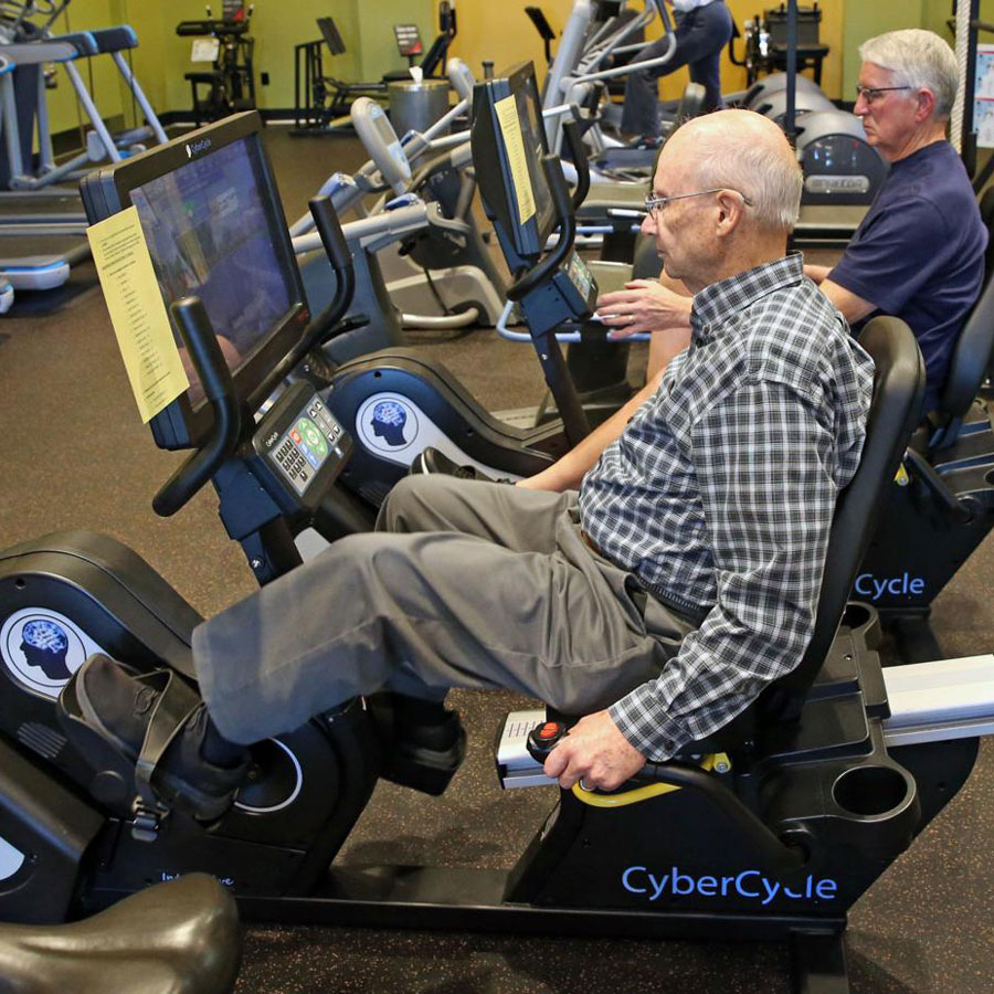 Member competing with CyberCycle