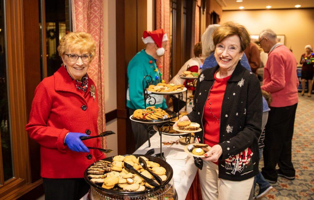 Serving Christmas Cookies