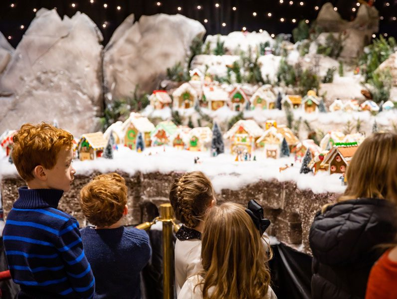 Children view Gingerbread Village