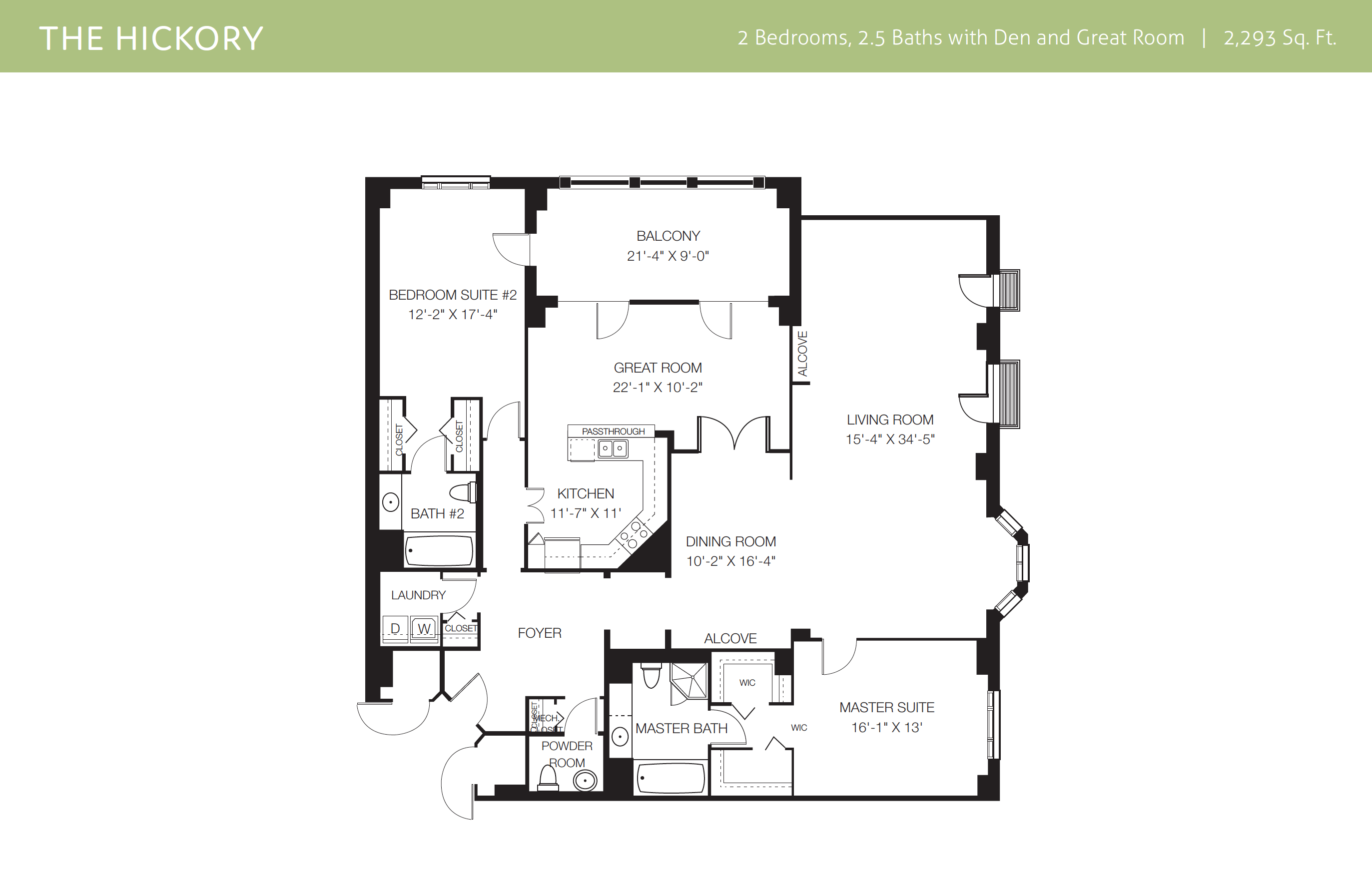 The Hickory Villa Floor Plan