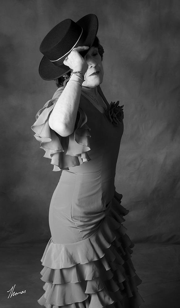 Portrait of Veronica Potter in her Flamenco Dance Attire