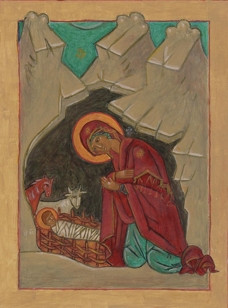 Veronica Pottor Icon Nativity