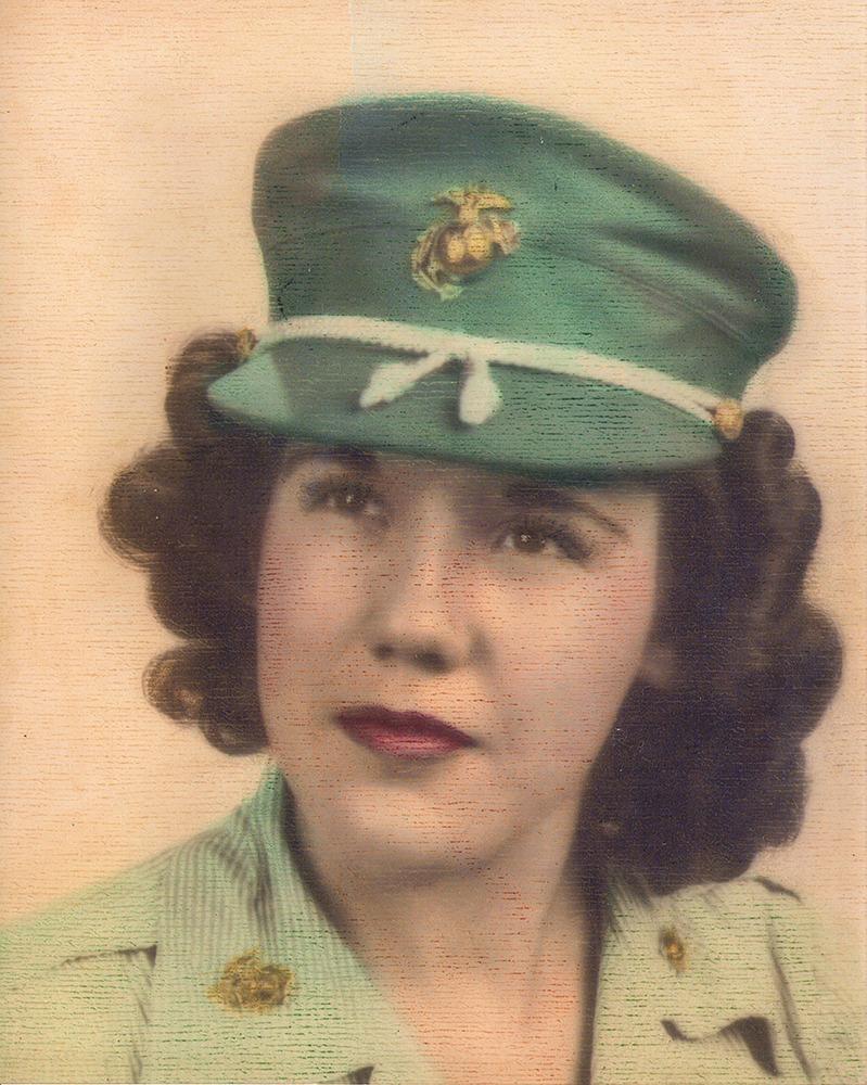 Veronica Pottor's Veteran Enlistment Photo