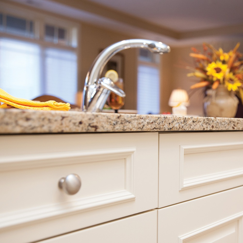 Updated cabinets and fixtures